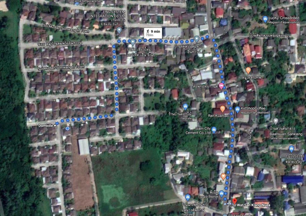 Wat San Klang Nuea map